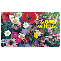 Grow With Us Seed Postcard