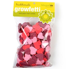 Plantable Seed Paper Confetti Hearts - Reds & Pinks