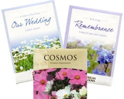 Ready to Ship Seed Packets - Wedding, Memorial Service & Cosmos