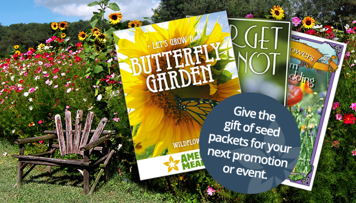 Give the gift of seed packets for your next promotion or event.