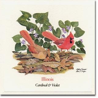 Illinois  State Flower and Bird
