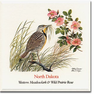 North  Dakota State Flower and Bird