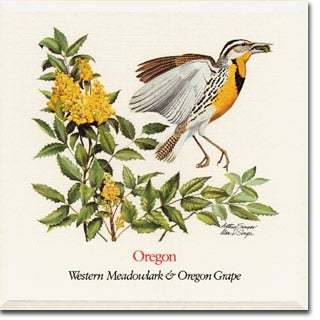 Oregon State  Flower and Bird