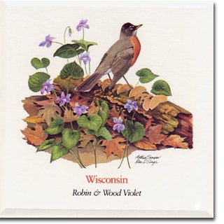 Wisconsin State Flower and Bird