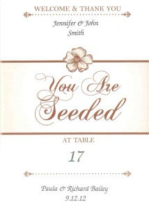 Place Card Seed Packet