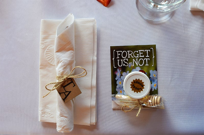 DIY fall wedding, seed packet favors