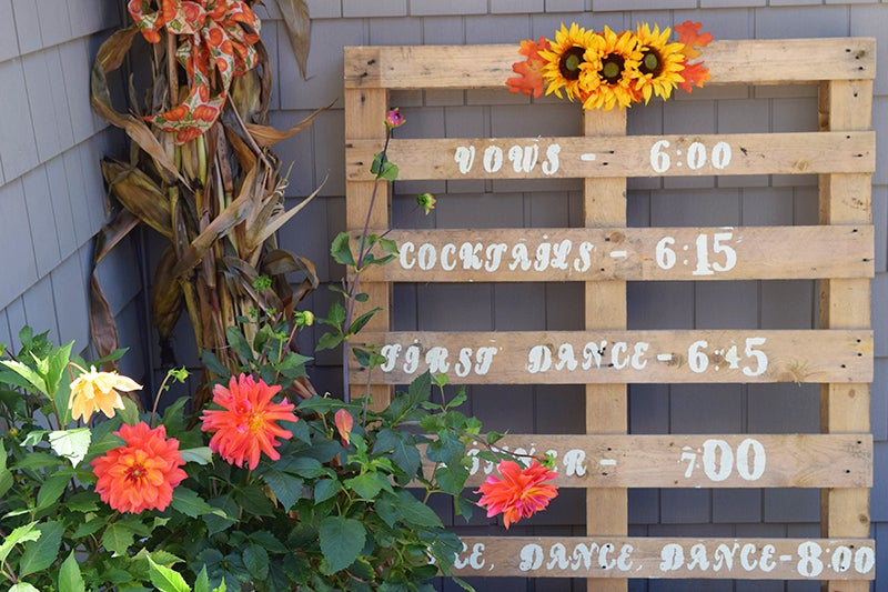 DIY fall wedding, potted Dahlias