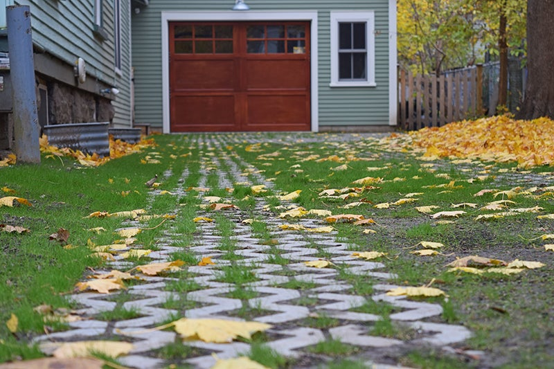 Planting A Grass Driveway With Grow-Through Pavers
