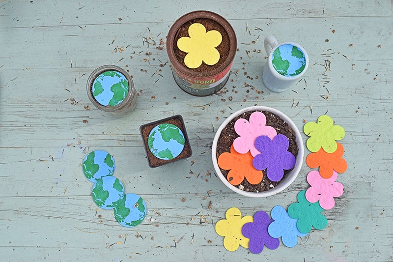 Earth Day Projects - Seed Paper and Pot