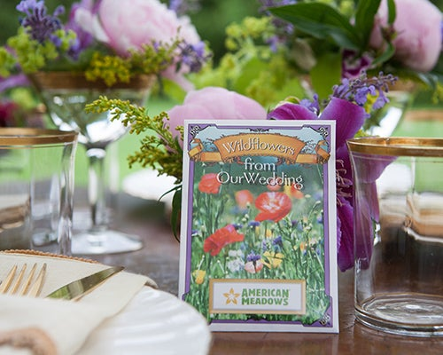 Share your love of wildflowers with all of your wedding guests with the Wildflowers From Our Wedding Seed Packet.