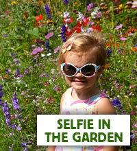 selfie in the garden
