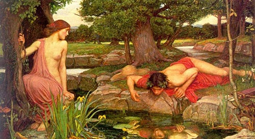 Painting of Narcissus and Echo
