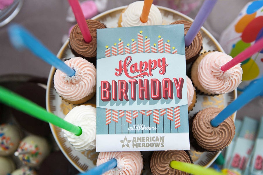 Birthday Seed Packets with Cupcakes