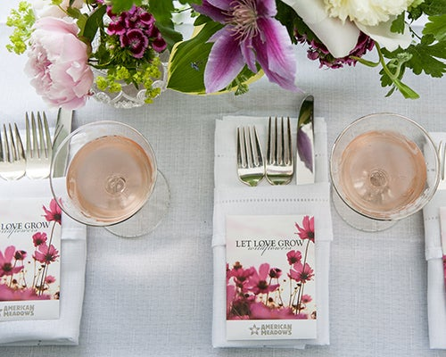 Stylish and affordable Seed Packets are easy to incorporate into place settings and wedding decor!