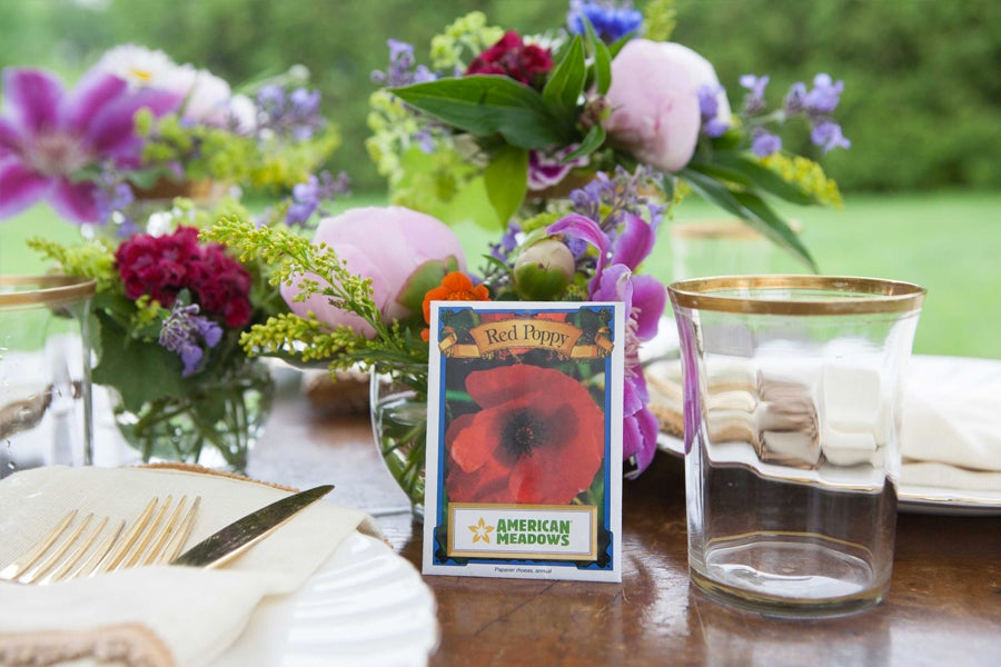 Red Poppy Seed Packets