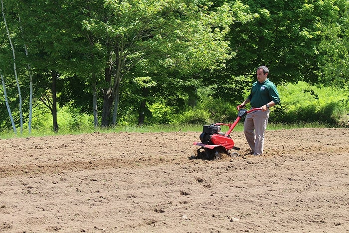 rototilling a field
