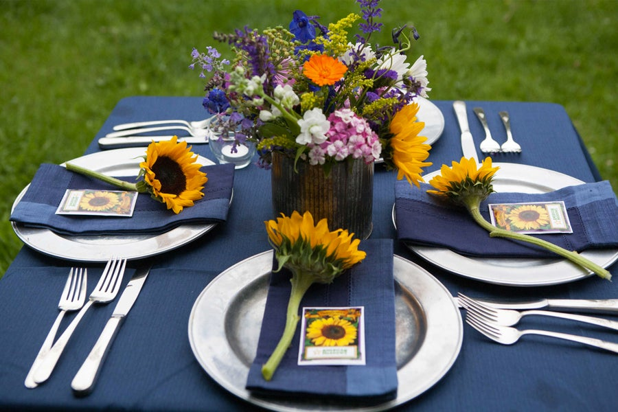 Sunflower Seed Packets Placesetting