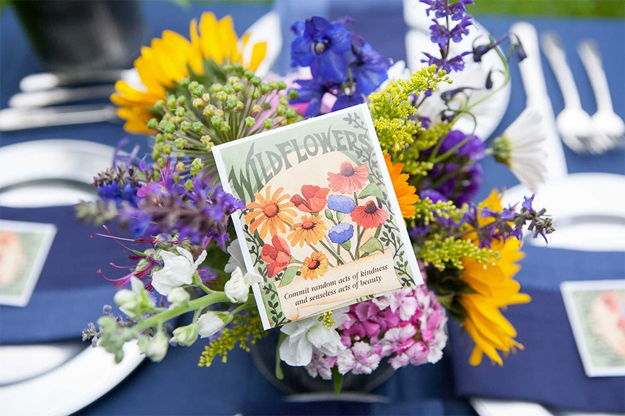 Favor-Sized Wildflower Seed Packet with Bouquet