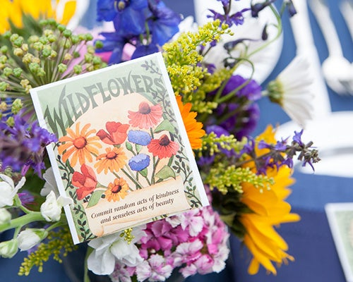 Mini Favor Sized Wildflower Seed Packets are versatile favors for any wedding event.